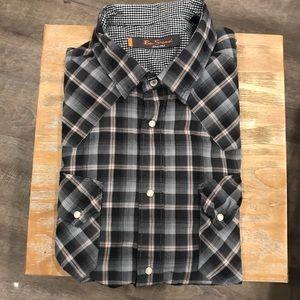 Ben Sherman Plaid Western-Style Shirt L